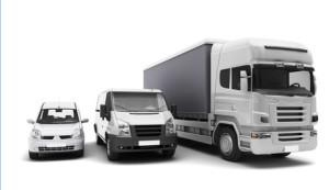 Trzy samochody transportowe