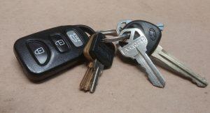 kluczyki do samochodu